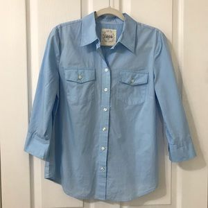 IZOD Woman's Long Sleeve Button Down Career Top